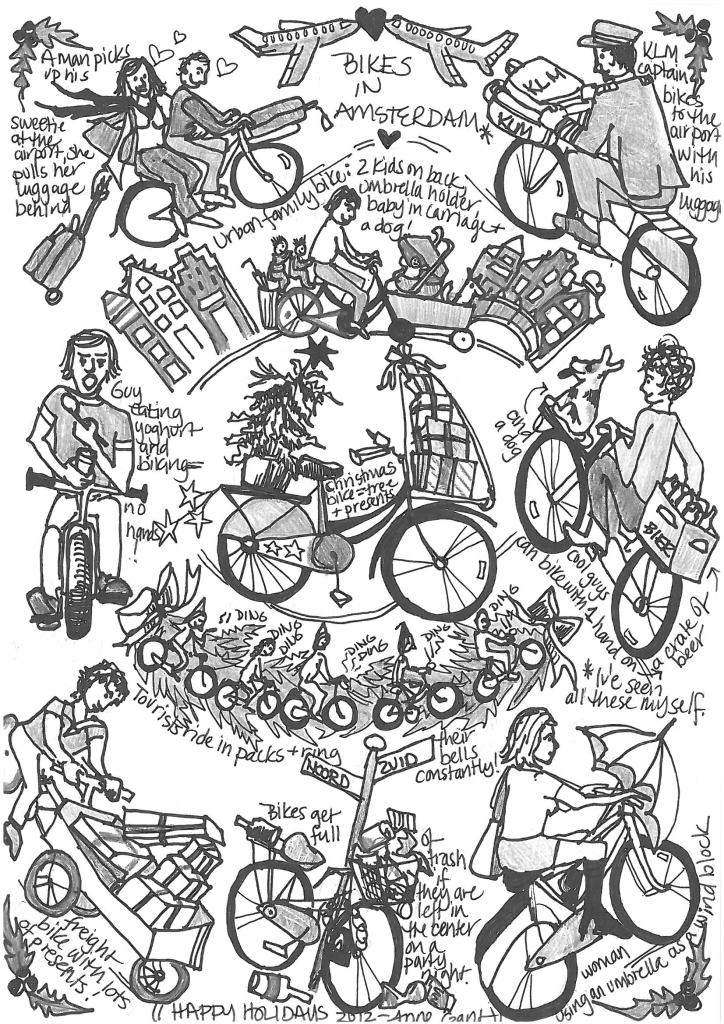 Christmas Drawing 2012 Bikes in Amsterdam